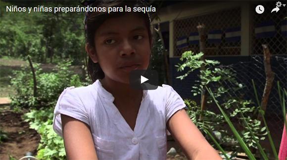 Niños y niñas preparándose para la sequía en Nicaragua